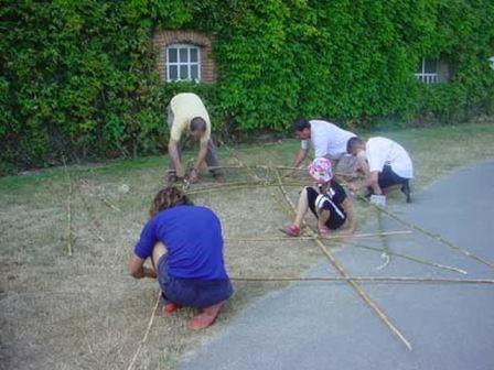 Construction de radeau